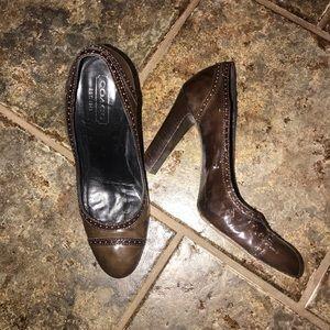 Coach brown heels !